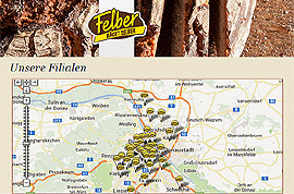 Bakery Felber - operating more than 50 stores in Austria